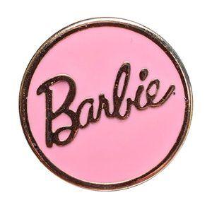 Barbie Lape Pin: Pink Logo